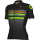 Alé Cycling Formula 1.0 Stripe Short Sleeve Jersey Men black-fluo green